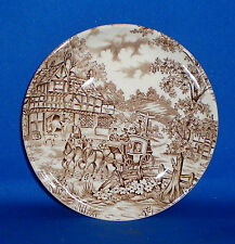 Alfred Meakin Staffordshire England Small Plate/Dish Coaching Days Pattern