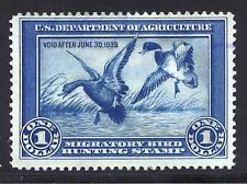 RW1 F-VF USED 1934 DUCK STAMP-APPEARS UNUSED (REM #RW1-289)