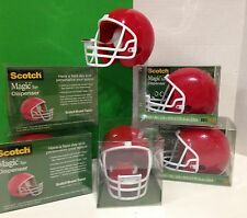 Scotch Magic Tape Dispenser Red Football Helmets With White Face Masks