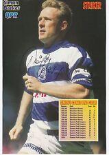 Simon Barker Queens Park Rangers 1988-1998 originale firmato a mano Rivista di taglio
