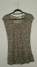LADIES Blouse Top, The MASAI Clothing Company Size MEDIUM BEIGE BLACK Genuine