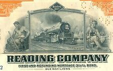 1945 Reading Company Bond Stock Certificate Railroad Monopoly