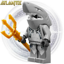 LEGO Atlantis Minifigure - Shark Warrior c/w Trident ( 8057 , 8060 , 8078 )