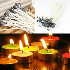 50X Candle Wicks Wedding With Sustainers Cotton Core Waxed Pre For Candle Making