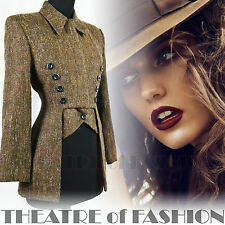 VINTAGE KAREN MILLEN JACKET COAT TWEED CORSET TAILCOAT RIDING VICTORIAN 40s 70s