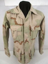 US Army 3-Color Desert Camouflage Uniform BDU Coat or Shirt - Size Small/Long