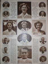 Photo article tennis the seeded players for Wimbledon 1947