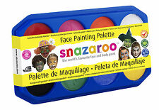 8 x 18ml SNAZAROO FACE & BODY PAINTS PALETTE SET DOES 400 FACES HALLOWEEN FETES