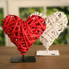 Woven Heart on Metal Stand 16cms. BRAND NEW. Two Colours available
