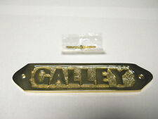 Nautical Maritime Decor Collectible Solid Brass Galley Wall Plaque Or Door Sign
