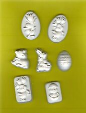 Duck, lamb, bunnies & egg Easter plaster of Paris painting project. Set of 14!
