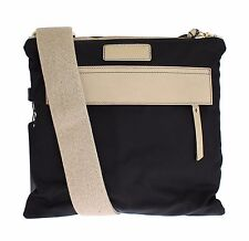 NWT $500 DOLCE & GABBANA Black Canvas Leather Crossbody Messenger Shoulder Bag