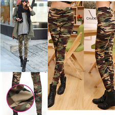 Fashion Women's Sexy Skinny Print Pants Stretch Jeggings Legging Camouflage