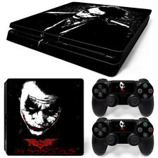 Sony PS4 Slim Console and Controller Skins / Decal--Batman Joker B/W (S-0064)