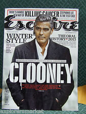 NO LABEL Esquire Magazine December 2013 GEORGE CLOONEY Winter Style Sex Books