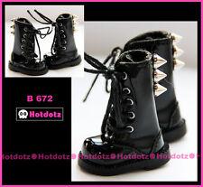 Custom Punk Boots For Blythe/ Pullip/ Monster High/ Momoko/ Licca/Dal - B672,BK