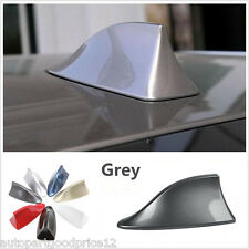 Grey Shark Fin AM/FM Radio Signal Replacement Aerial Antenna Car SUV Universal