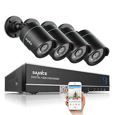 SANNCE 8CH 1080N DVR Outdoor 1500TVL Home CCTV Security Camera System Wire Video