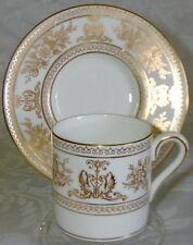 Wedgwood Bone China Demitasse Cup & Saucer - Columbia Gold