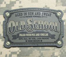 OLD SCHOOL WHISKEY LABEL ARMY USA MILITARY 3D PVC ACU DARK MORALE HOOK PATCH