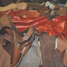 TEN LB LEATHER SCRAPS / HOBBY / CRAFTS / PIECES X50 DEF