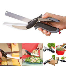 New Clever Cutter  Cutting Board Scissors Food Choppers Vegetable Slicer