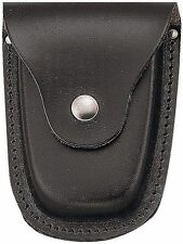 Black Leather Police Handcuff Case - Heavyweight Tactical Deluxe Hand Cuff Case