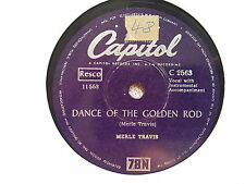 Merle Travis - Dance of the golden Rod/ Re-enlistment Blues Schellack 78 rpm