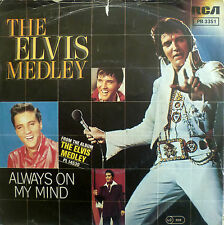 "7"" 1972 RI 1982! ELVIS PRESLEY The Elvis Medley /VG+++"