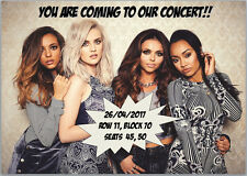 Little Mix Concert Tickets Seats Present Christmas Birthday Card Personalised