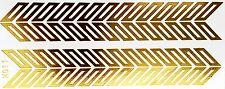 Tattoo Gold Einmal Flash Klebe Temporary 2teile Armband Hals Kette Fuß WOW H11