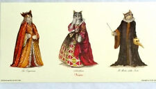 Cat Print from Venice, Aristocratic Venetian Cats in Costume Qty paper Dottore
