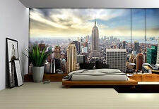 Girls room giant Wall Mural photo wallpaper 368x254cm New York blue skyline
