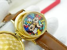 """MICKEY MOUSE,& Friends,""""Opening Day TOONTOWN,Park Exc,RARE MENS POP WATCH R7-02"""