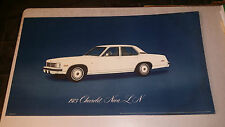 1975 CHEVROLET CHEVY NOVA ORIGINAL DEALER SHOWROOM FLOOR POSTER SUPER RARE