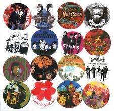 16 UK PSYCHEDELIC BANDS BADGES, Tomorrow, Zombies, Kaleidoscope.Soft Machine.