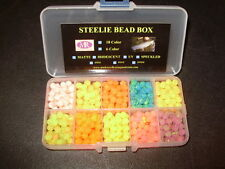 6mm 10 Color Speckled UV Trout Bead Assortment Box FREE BEADS INCLUDED $9.99!