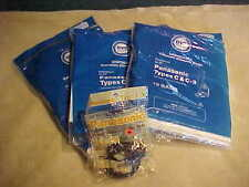PANASONIC CANISTER VACUUM BAGS (LOT OF 34) TYPES C & C3 DVC BRAND ALSO 3 BELTS