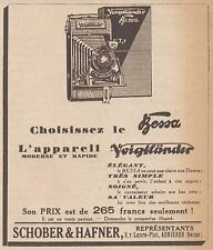 Z9173 Appareil Bessa VOIGTLANDER -  Pubblicità d'epoca - 1929 Old advertising