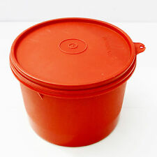 Vintage Retro 1970s Tupperware Red Container Canister