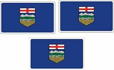 3 Car Canada Province Alberta Car Boat Truck Bike flags stickers