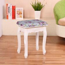 ROSE vintage tavolo da toeletta Sgabello imbottito sedia pianoforte resto Trucco Sedile Barocco