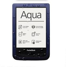 "NEW Pocketbook Aqua P640 Dark Blue 6"" E-ink Pearl Waterproof E-Book Reader WiFi"