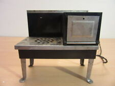 Vintage Metal Ware Corp Black/Chrome Childs Electric Steel Toy Stove with Tray