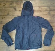 Men's Hooded Navy Superdry Windcheater Technical Jacket Small Double Black Label