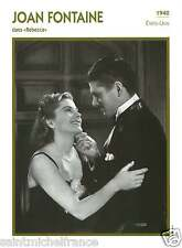 2.JOAN FONTAINE ACTRICE ACTRESS FICHE CINEMA USA 90s