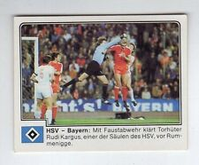 figurina GERMANIA FUSSBALL 80 PANINI NEW NUMERO 155 HSV - BAYERN