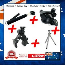 Ski Pole + Suction Cup + Handlebar + Stand For Toshiba Camileo X Sports Camera