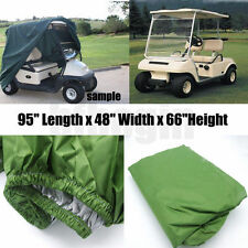 2 Passenger Seat  Enclosure Storage Golf Cart Cover For EZ Go Club Car Yamaha