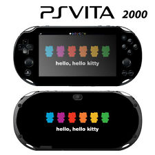 Vinyl Decal Skin Sticker for Sony PS Vita Slim 2000 Cute Kitty Little Rainbow